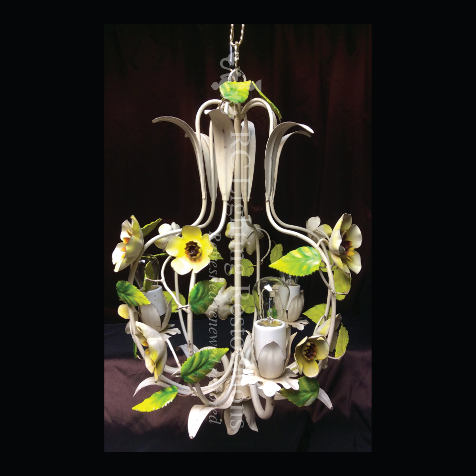 Art Deco Hand Painted fixture