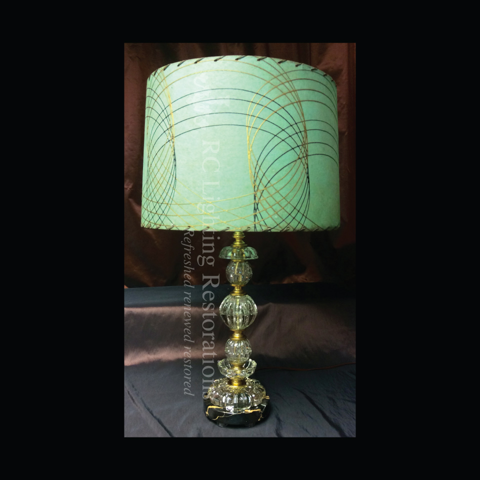 Onyx and Glass Table-lamp