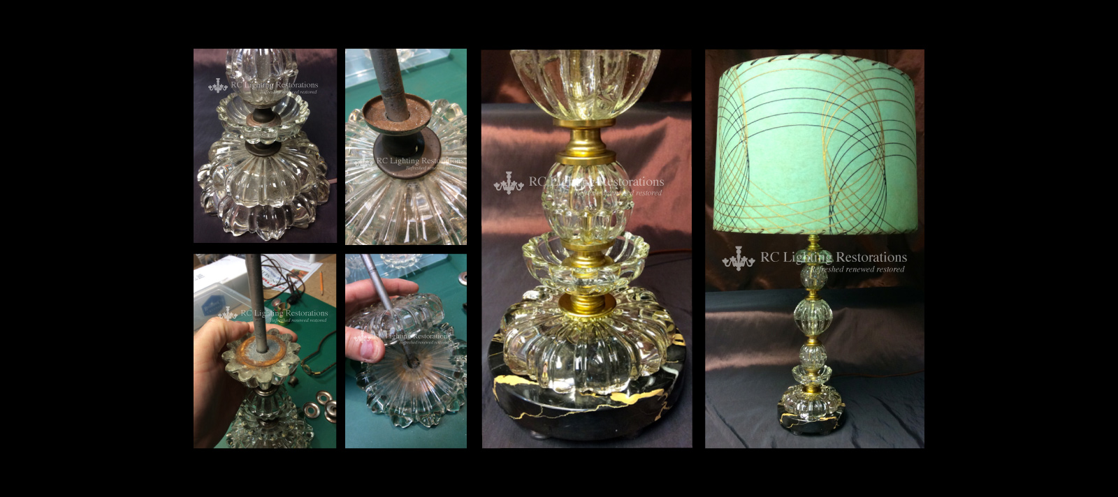 Restoration Services on Table Lamp